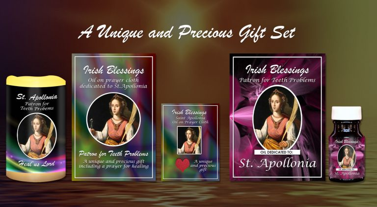 Exclusive Gift Set 60 - St Apollonia (Patron for Teeth Problems)