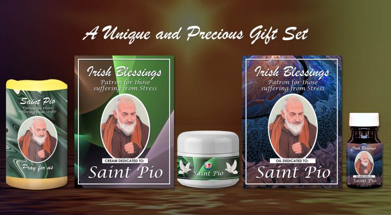 Exclusive Gift Set 69 - St Pio (Patron for those suffering from Stress)