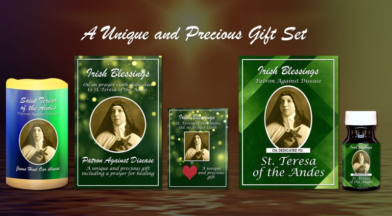Exclusive Gift Set 56 - St Teresa of the Andes Patron against Disease