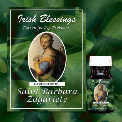 St Barbara Zagariete Healing Oil (Patron for Leg problems)