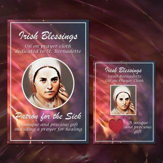 St Bernadette on Prayer Cloth (Patron for the Sick)