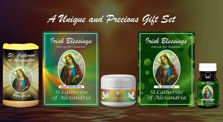 Exclusive Gift Set 82 - St Catherine of Alexandria (Patron for Students)