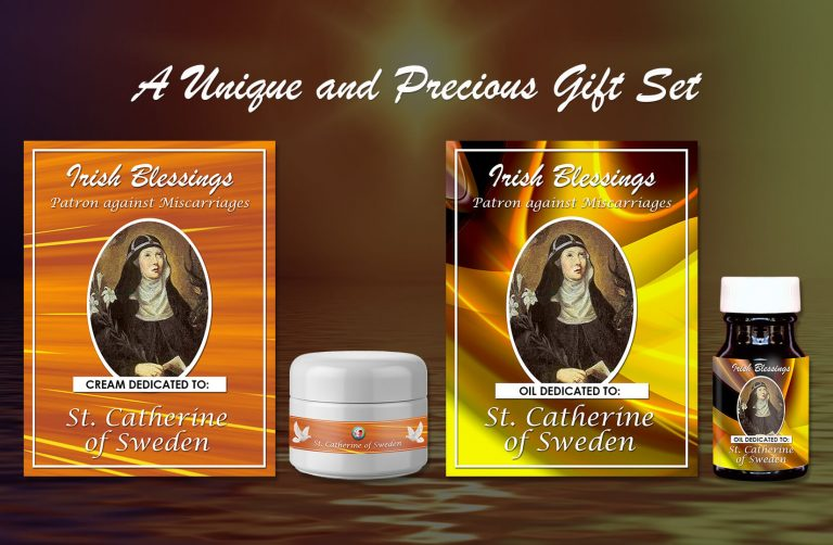 Exclusive Gift Set 75 - St Catherine of Sweden (Patron against Miscarriages)