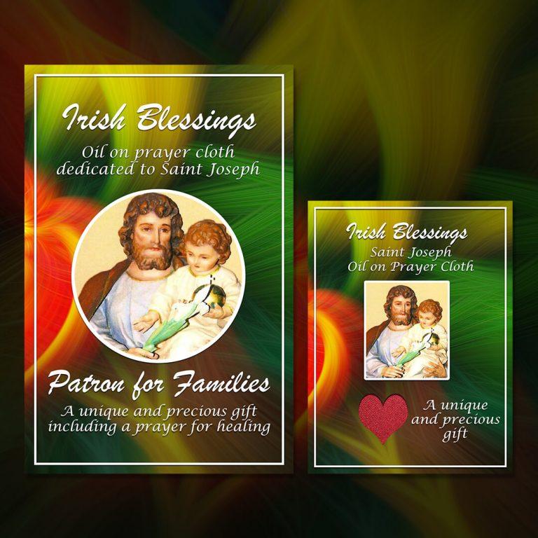 St Joseph on Prayer Cloth (Patron for Families)