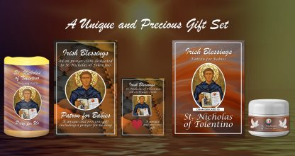 Exclusive Gift Set 87 - St Nicholas of Tolentino (Patron for Babies)