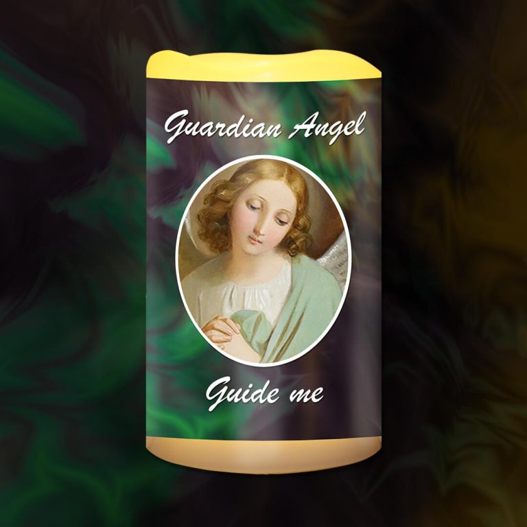 Guardian Angel Guide Me Battery Candle