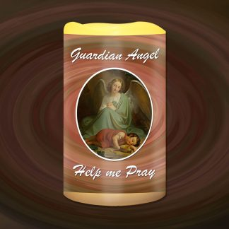 Guardian Angel Help Me Pray Battery Candle