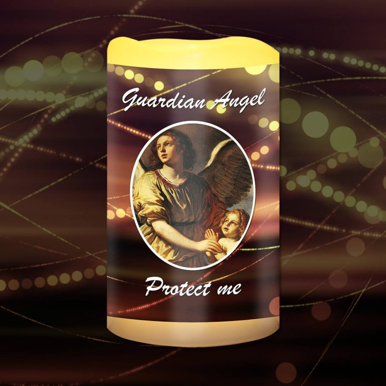 Guardian Angel Protect me Battery Candle