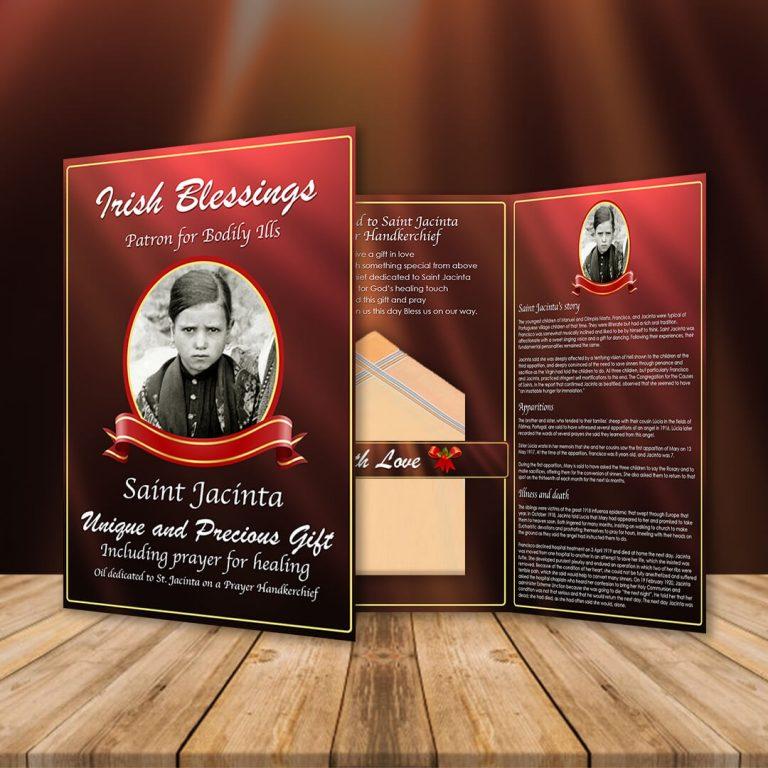 St Jacinta on a Prayer Handkerchief (Patron for Bodily ills)