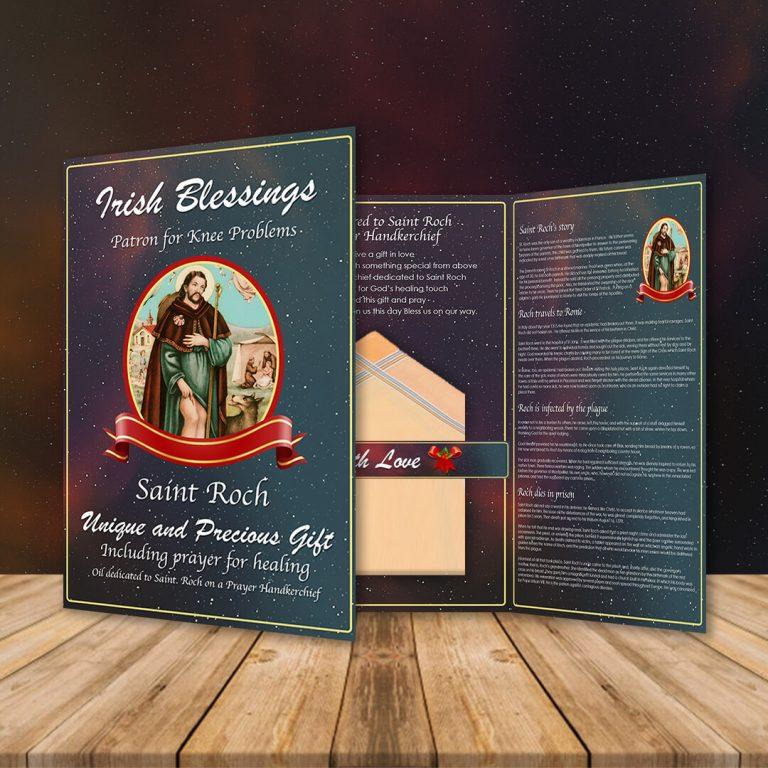 St Roch on a Prayer Handkerchief (Patron for Knee Problems)